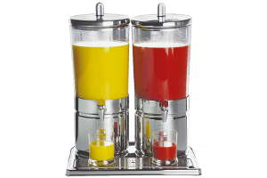 Dispensador doble zumo inox Top Fresh